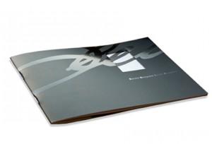 Christina Bruun Olsson brochure layout udstansning effektlak