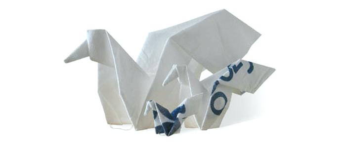 Christina Bruun Olsson, Novozymes, bigbag, fugle, origami
