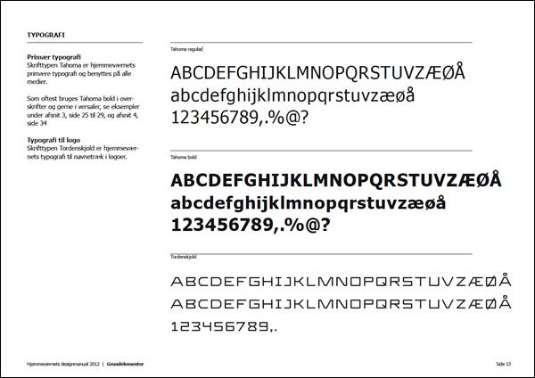 Typografi designguide hjemmeværnet