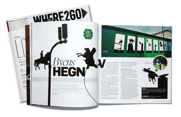 Christina Bruun Olsson illustrationer silhuetter rytterstatuer