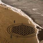 Landart på stranden med Andreas Amador