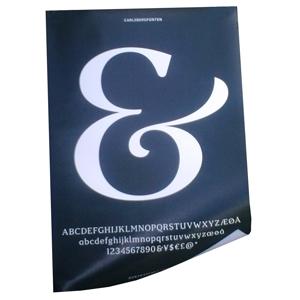 Kontrapunkt plakat &-tegn et-tegn typografi