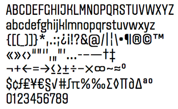 Typografi AvenyT A2 Type
